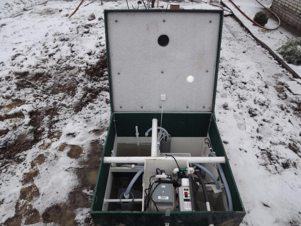 Монтаж станции биоочистки Астра 5