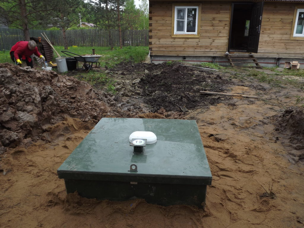 Монтаж станции биоочистки Топас 4